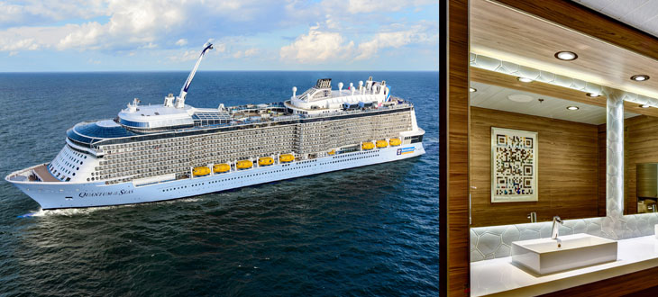 Hansgrohe and Axor products on the cruise liners Quantum of the Seas and MV Saluzi