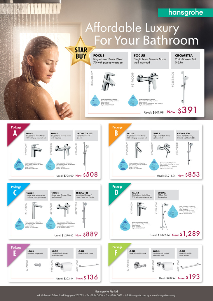 Renovation Packages Promotion | Hansgrohe Singapore