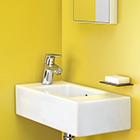 handwaschbecken kleine waschbecken f r das g stebad hansgrohe de. Black Bedroom Furniture Sets. Home Design Ideas