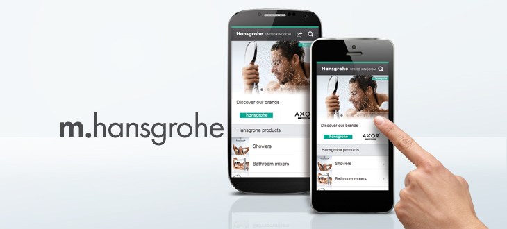 Mobile website launches   Hansgrohe UK