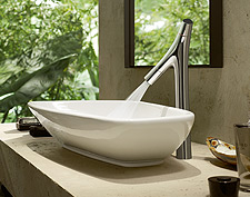 Axor Starck Organic wash bowl with basin mixer.