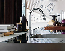 Axor Citterio M kitchen mixer on the sink
