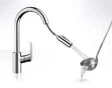 Hansgrohe Focus kitchen sink faucets with hand spray