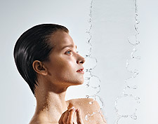 A rain shower head for your bathroom shower can be found at Hansgrohe.