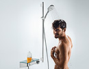 Man with shower set
