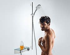 Shower with hansgrohe shower set