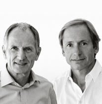 A portrait of Andreas Haug and Tom Schönherr