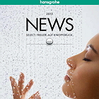 Cover of the Hansgrohe News 2015 brochure