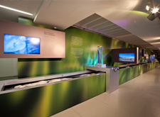 "Visit the ""green corner"" of the Aquademie to create a storm in a glass or calculate the water-saving potential of your own home."