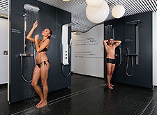 Test Hansgrohe and Axor showers in the Showerworld