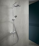 Shower with Axor Montreux showerpipe