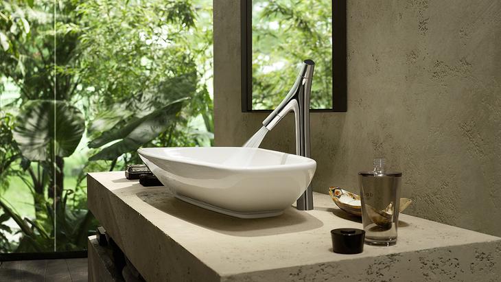 Axor Starck Organic On The Wash Basin