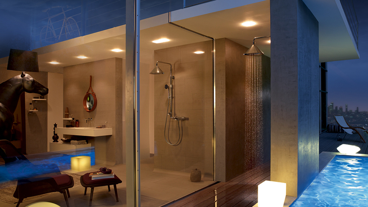 Bad-Ambiente mit Axor ShowerProducts designed by Front.
