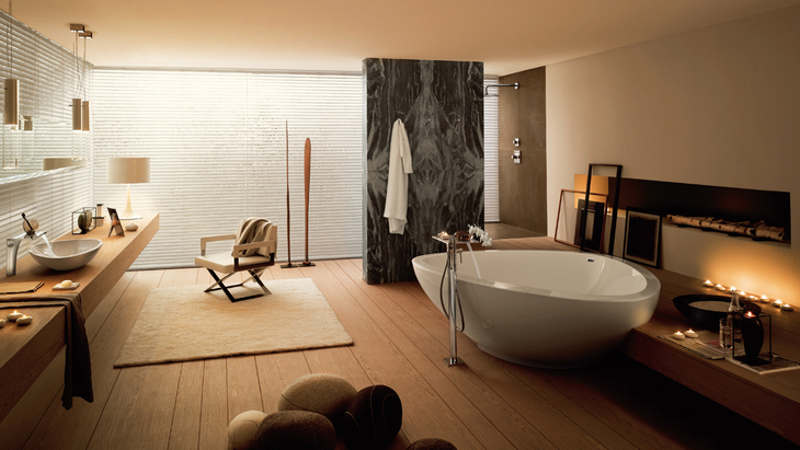 Inspired by nature, Jean-Marie Massaud developed the Axor Massaud collection for Hansgrohe.