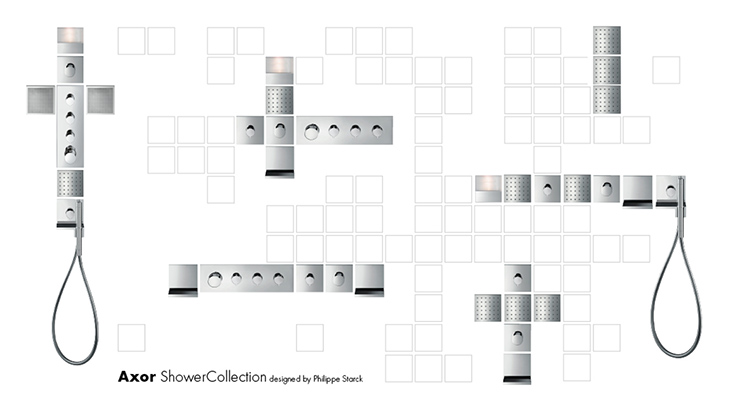 Axor ShowerCollection designed by Philippe Starck.