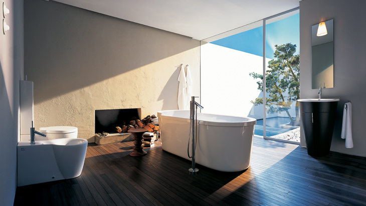 The bathroom as a place of retreat and a lounge.