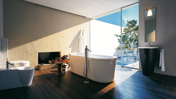 Bathroom featuring Axor Starck.
