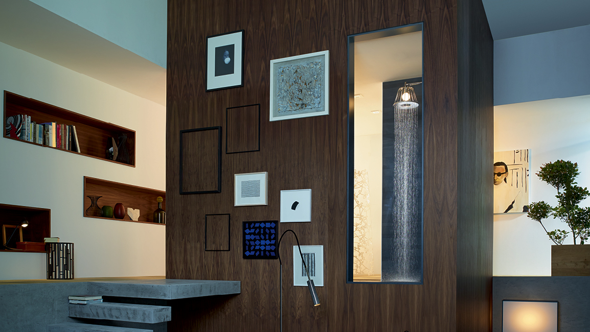 Homeliness in the bathroom, LED shower, lighting | Hansgrohe US