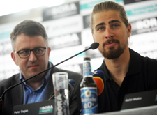 Hansgrohes chef och Peter Sagan.