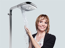 Graduate with a Hansgrohe overhead shower.