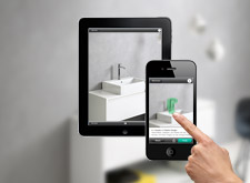 iPhone and iPad with the Hansgrohe brand start screen