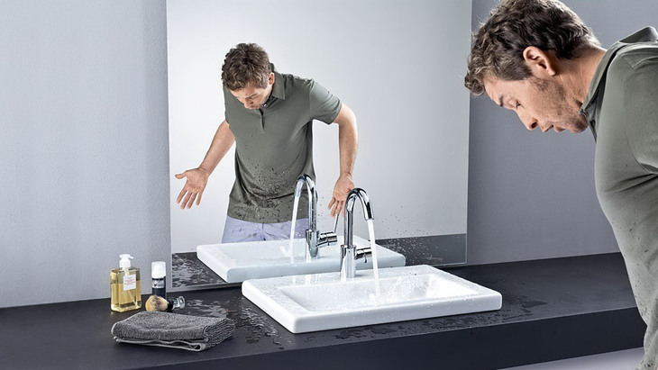 combine wash basin and mixer comfortzone test hansgrohe int. Black Bedroom Furniture Sets. Home Design Ideas