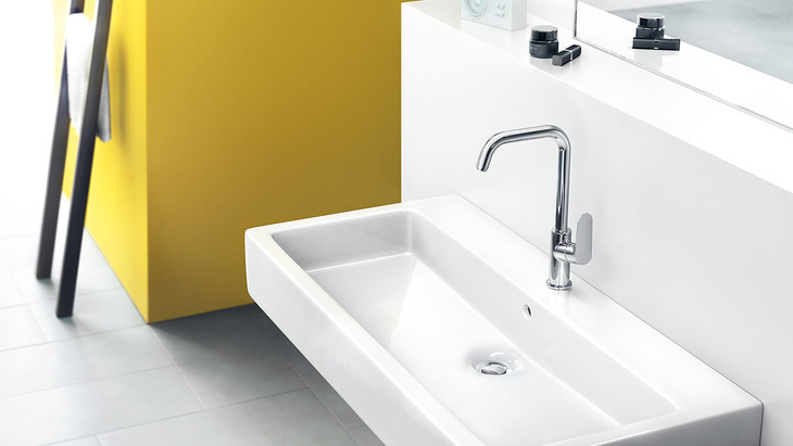 Sehr Gut Basin mixer featuring convenient spout heights | Hansgrohe INT BG26