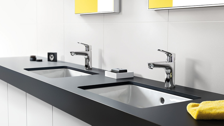 Ordentlich Faucets featuring convenient spout heights | Hansgrohe US TL64