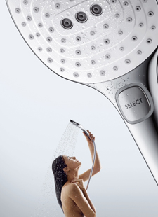 Woman, Select hand shower