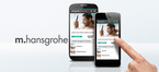 Mobile Hansgrohe website for smartphones.