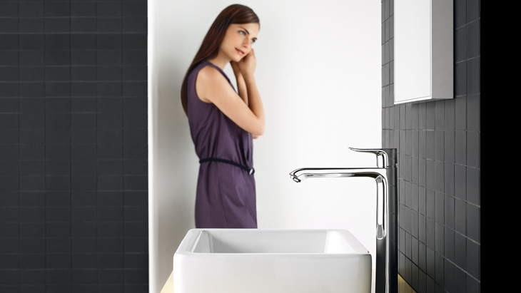 bathroom environment in the modern style from hansgrohe avant garde faucet