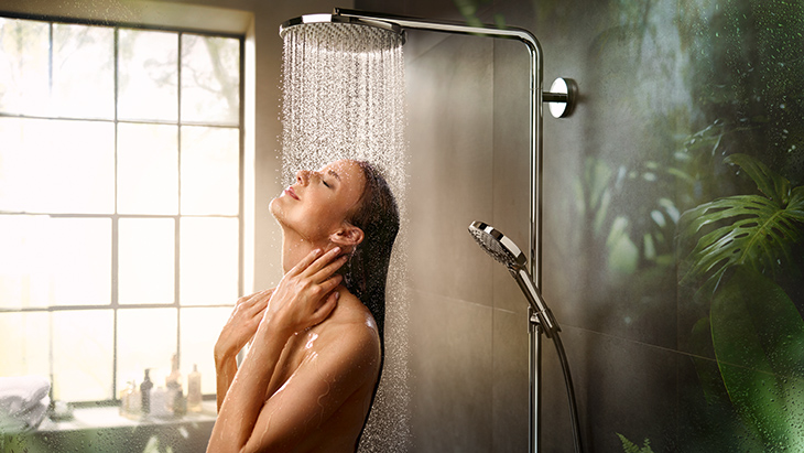 New: PowderRain by hansgrohe.