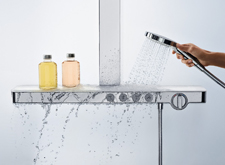 """Hansgrohe Rainmaker Select Showerpipe""."