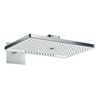 Rainmaker Select rain shower head for ceiling mounting.