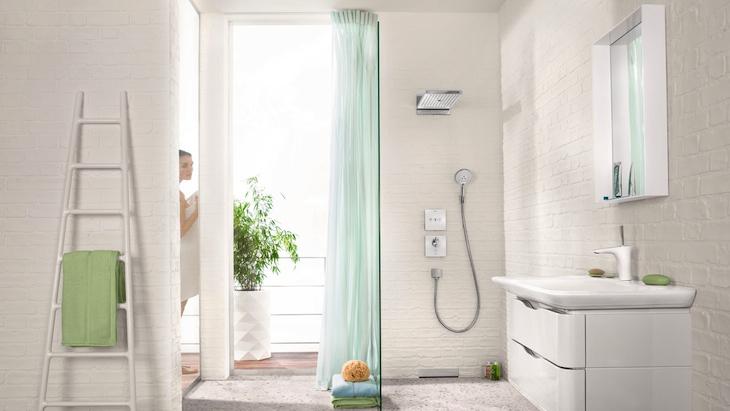 Regendouche in de moderne badkamer foto´s & ideeën hansgrohe