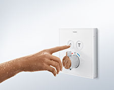 Thermostat ShowerSelect avec surface vitrée.