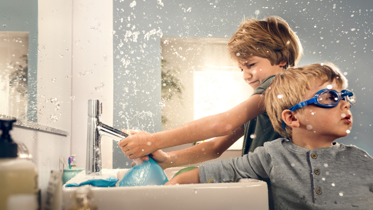 Water at the touch of a button with the new Select faucet.