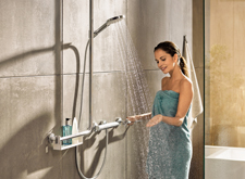 hansgrohe Unica Comfort wall bar complete solution.