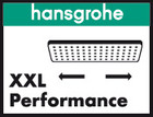 XXL Performance-logo fra Hansgrohe.