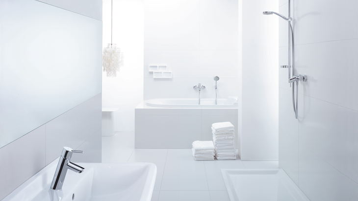 Want a bathroom with clear lines and a neat, tidy appearance? Modern, simplistic design: Talis S². A bathroom dream from Hansgrohe.