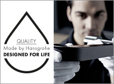 Hansgrohe's high-quality manufacturing.