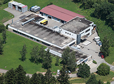 Outside view of the Hansgrohe plant in Alpirsbach