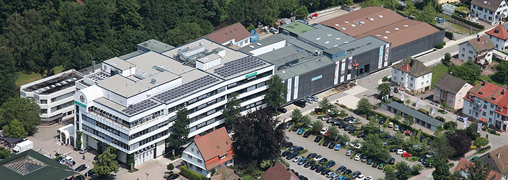 Birds-eye-view of the Aue plant, Schiltach