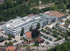 Outside view of the Hansgrohe Aue plant in Schiltach