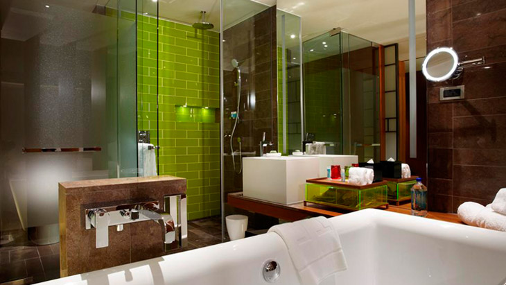 Bathroom in the W Taipei Hotel. Boutique hotel W Taipei   Hansgrohe India
