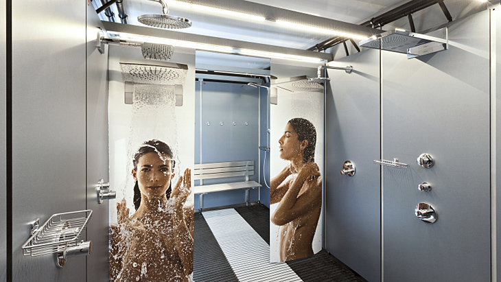 Mobile shower for events - Hansgrohe shower truck | Hansgrohe INT