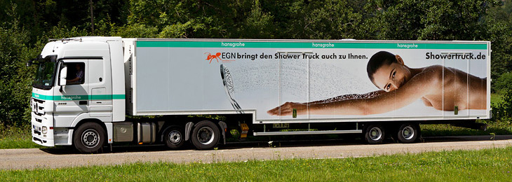 Hansgrohe lorry on the move