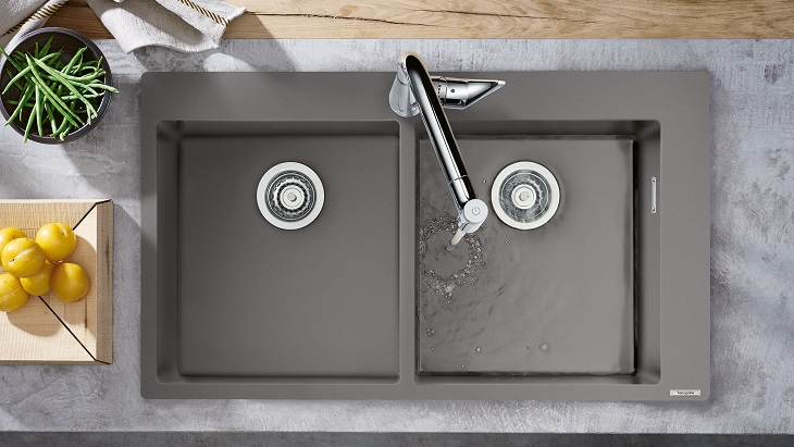 Individual, natural, pleasing: The new hansgrohe granite sinks bring sophisticated colour accents