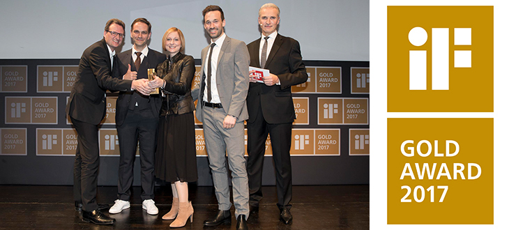AXOR receives iF Gold Award at the awards ceremony on 10 March in Munich.