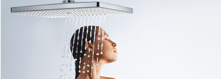 The new Hansgrohe Rainmaker Select models turn showering into a sensual experience and blend harmoniously with any bathroom environment.